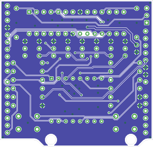 maroon SHIELD PCB bottom
