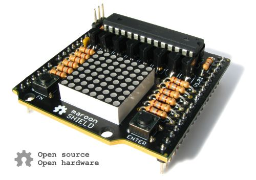 maroon SHIELD (Open Source, Open Hardware)